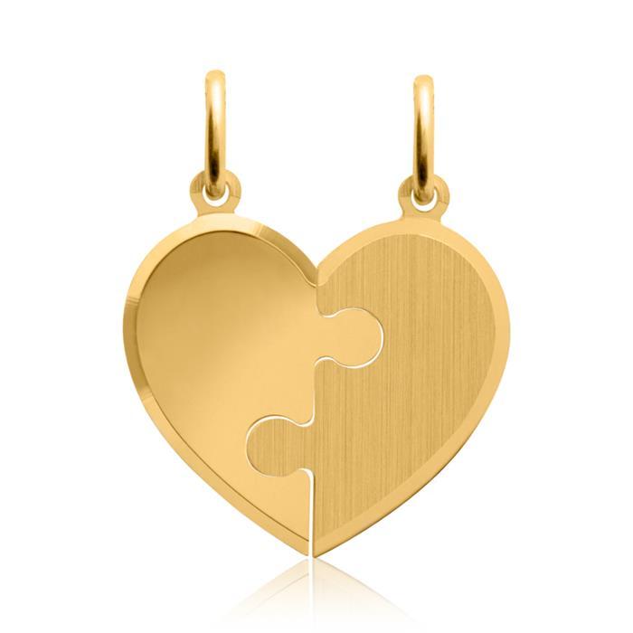Silber Anhänger mit zwei Ketten vergoldet