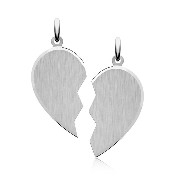 Silber Anhänger mit zwei Ketten gravierbar
