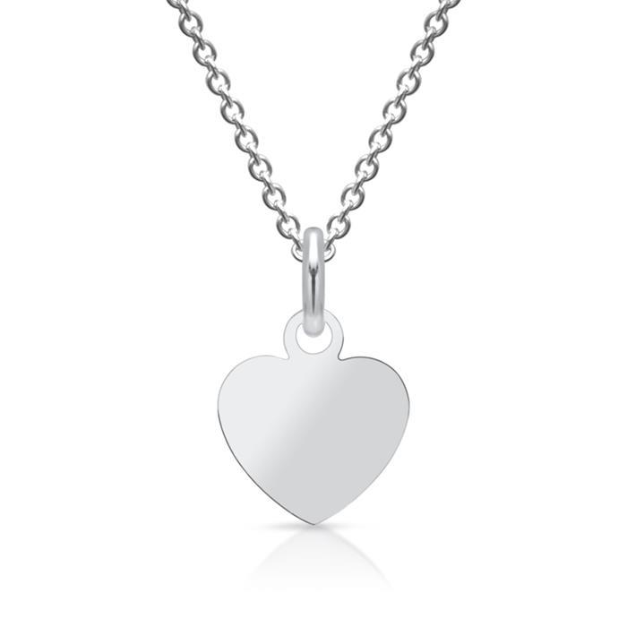 925 Silberanhänger Herz gravierbar + Kette
