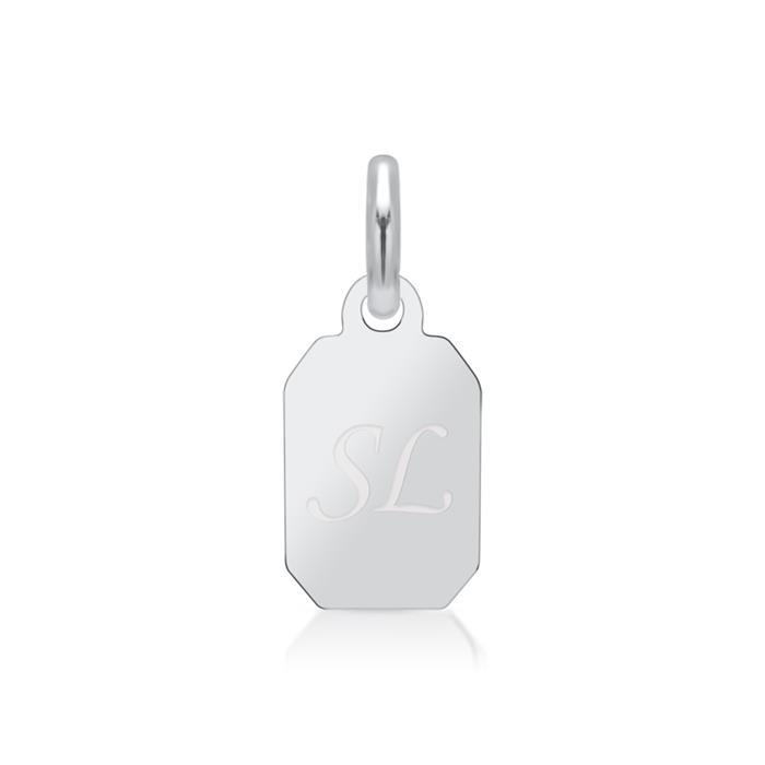 Kleiner 925 Silberanhänger + Kette gravierbar