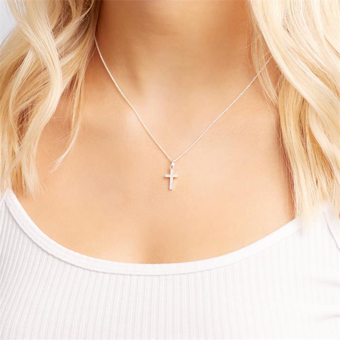 925 Silber Kreuzanhänger
