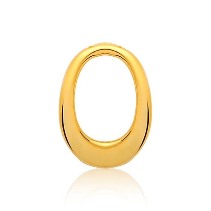 Moderner 925er Silberanhänger vergoldet O-Form