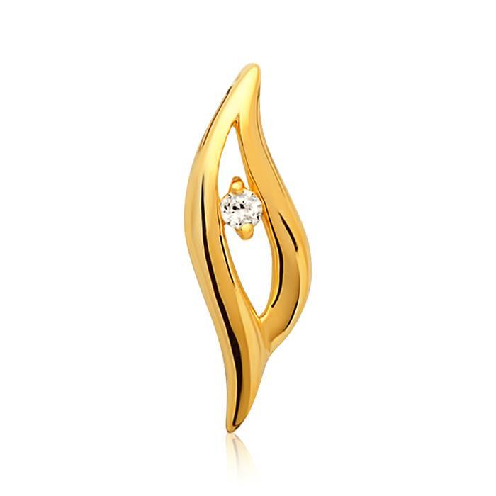Hochwertiger Silberanhänger vergoldet Zirkonia