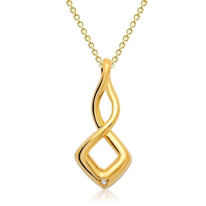 Moderner Silberanhänger vergoldet verschlungen