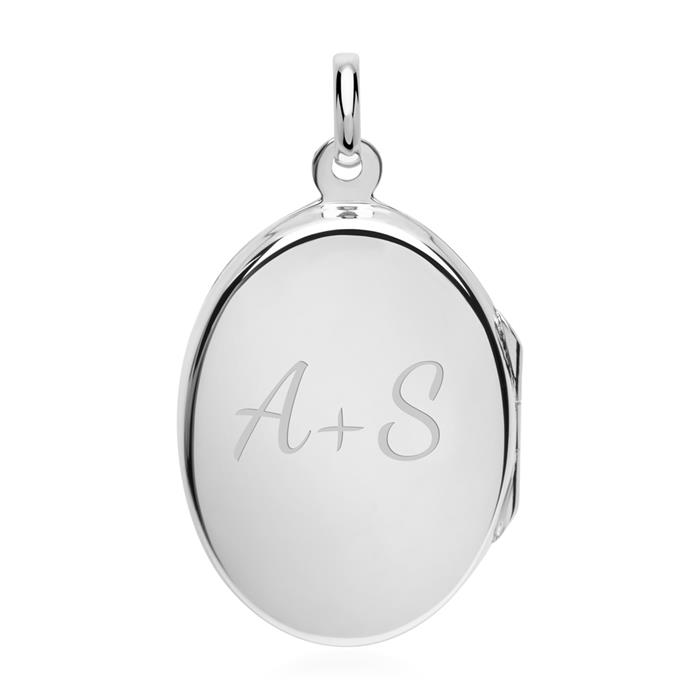 Silberkette mit Medaillon Amethyst