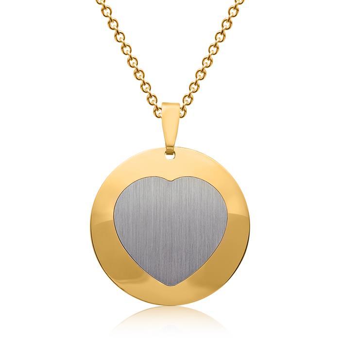 Silberanhänger gelbvergoldet Herzform