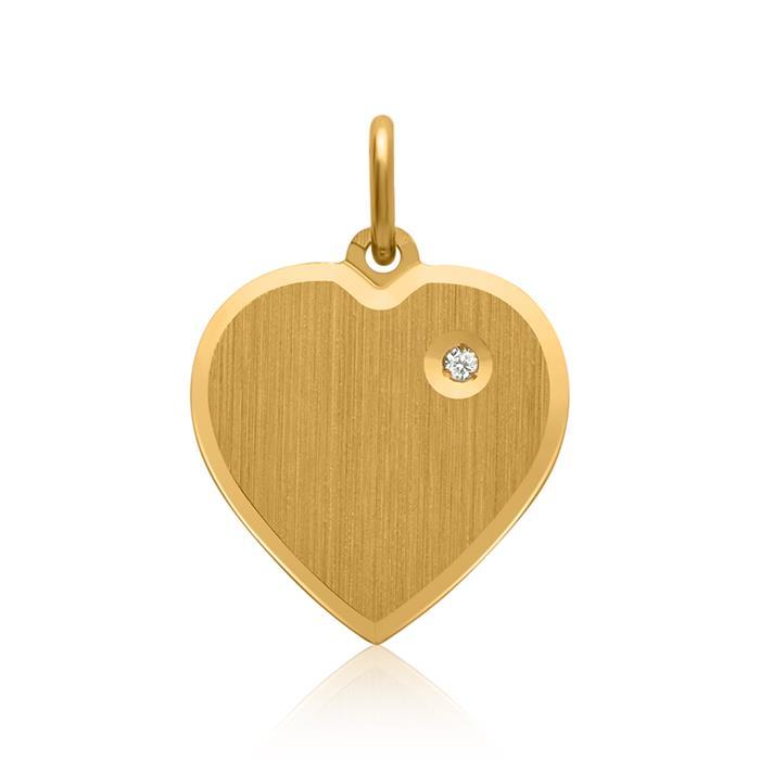 Silberanhänger vergoldet Herz Zirkonia