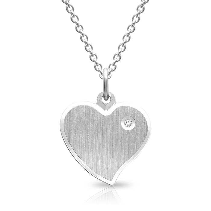 Unique Sterling Silver Necklace Frosted Pendant Sp0581slk