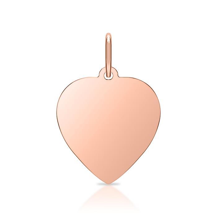 925 Silberanhänger Herz rosé