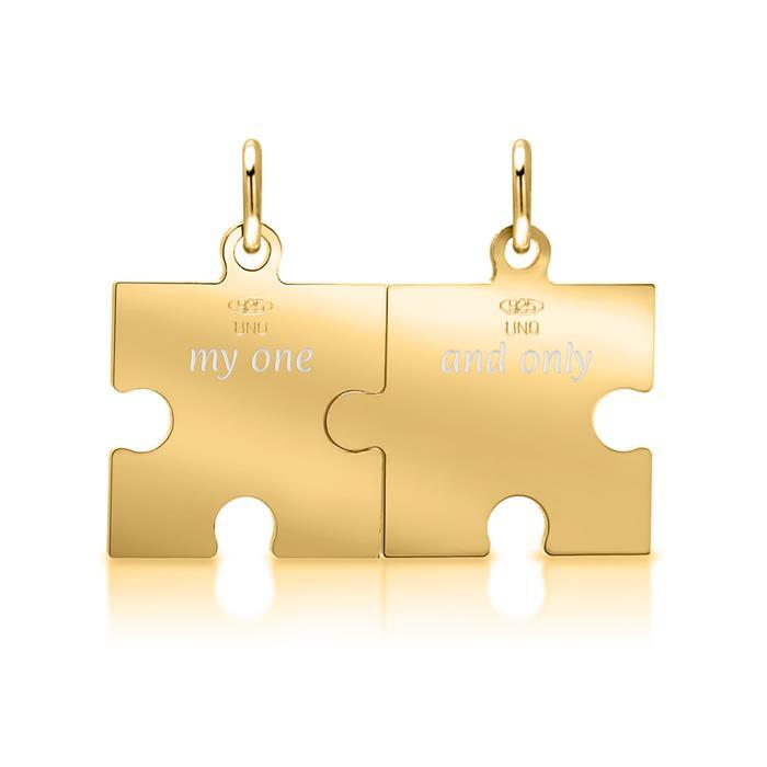 925er Silber Anhängerset Puzzleteile 2-teilig
