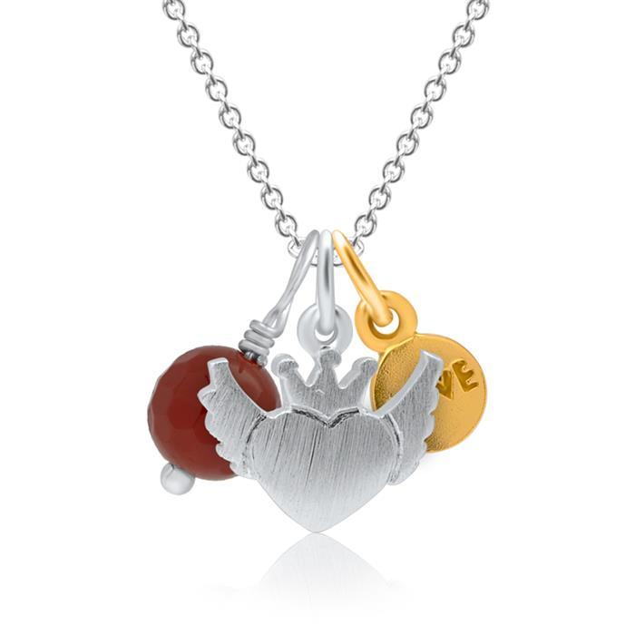 925er Silberkette mit 3-teiligem Anhängerset