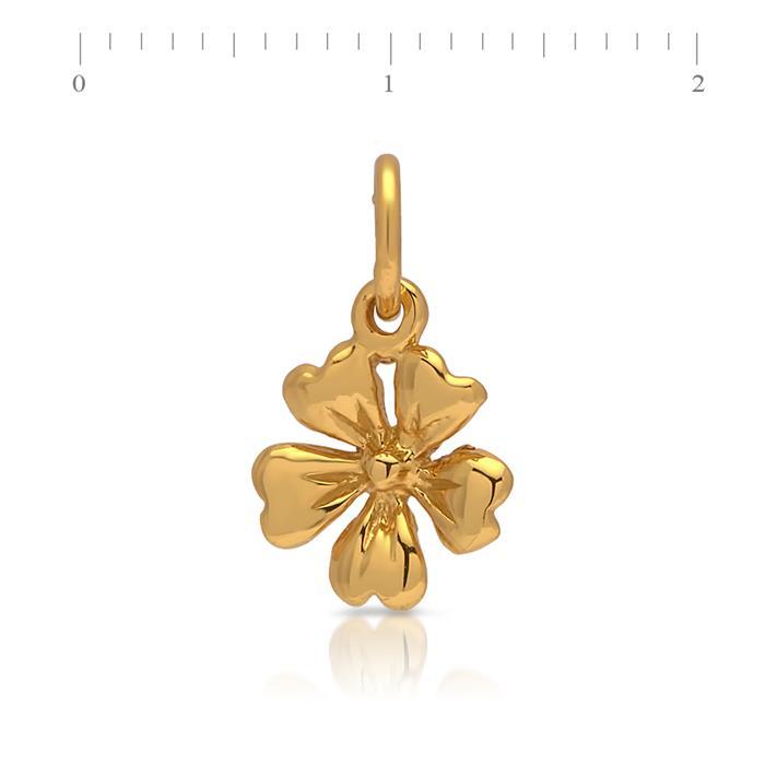 Sterlingsilber Anhänger gelbvergoldet Blüte