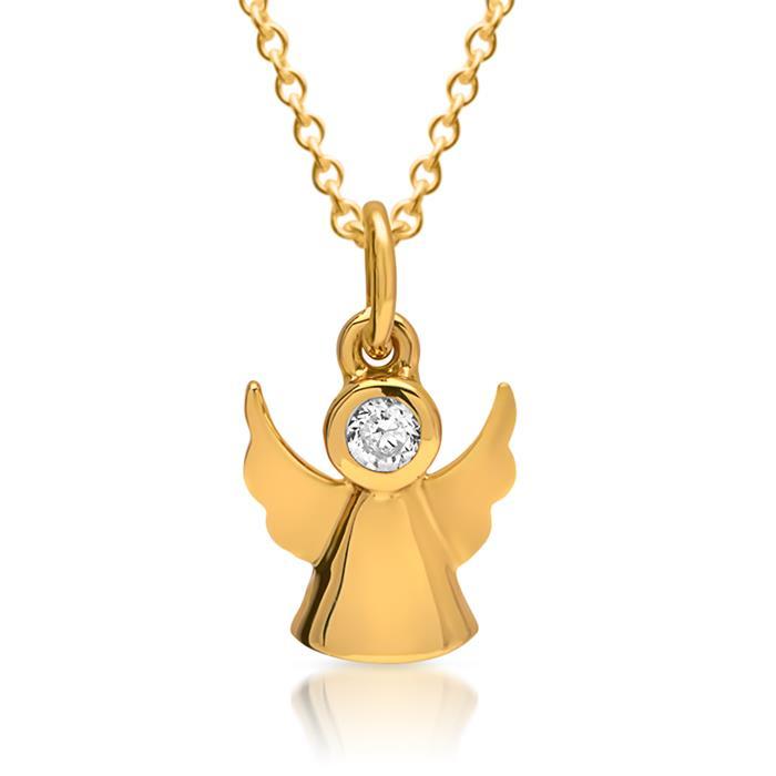 Anhänger 925er Sterlingsilber vergoldet Engel