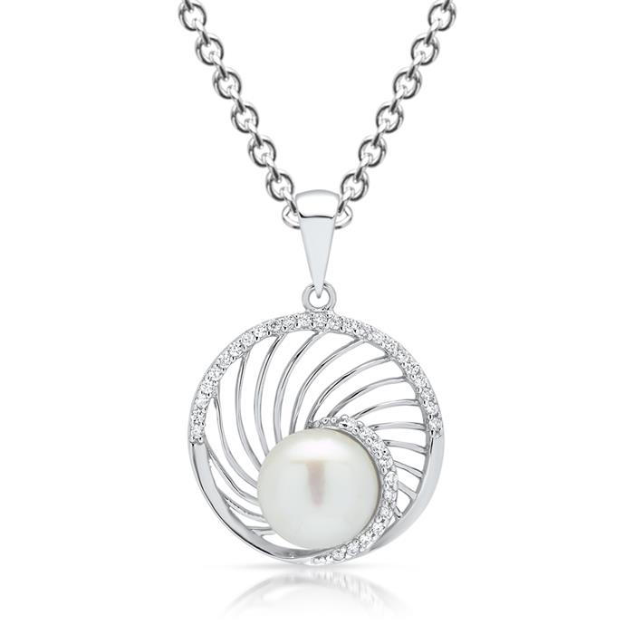 Filigraner Anhänger 925 Silber mit Perle