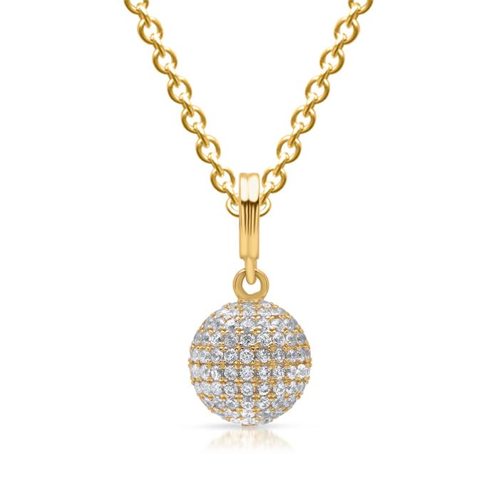 Gelbvergoldeter Silberanhänger mit Steinen