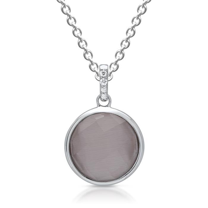 Premium Anhänger Silber mit Cat Eye Perle