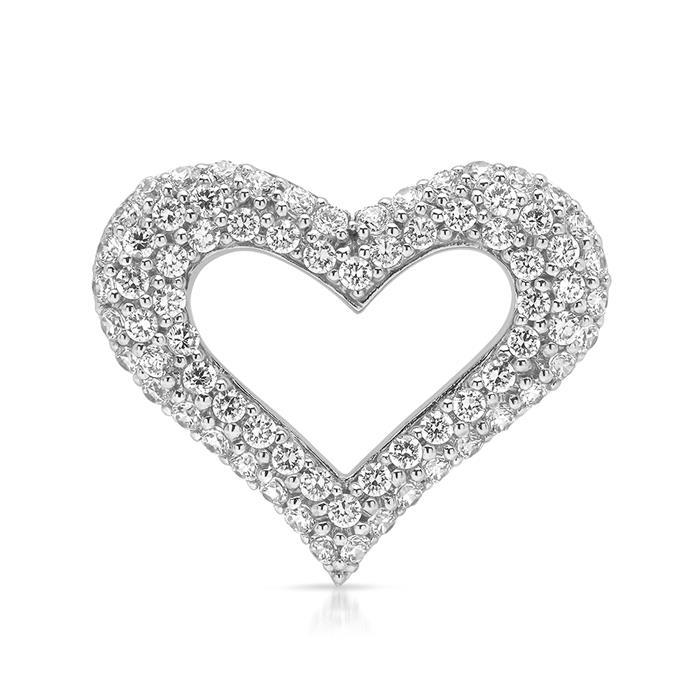 925er Silber Ankerkette mit Herzanhänger