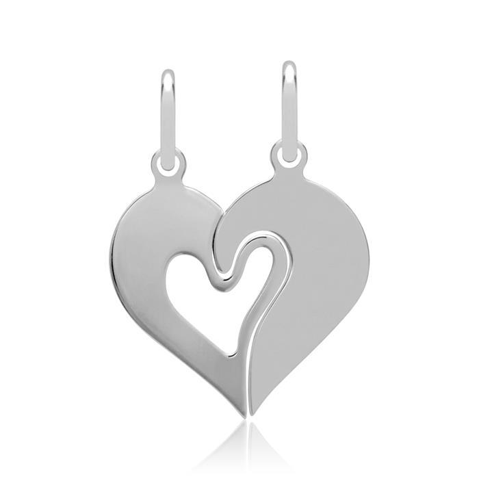 Ketten inklusive Herz-Anhänger Cut-Out Silber