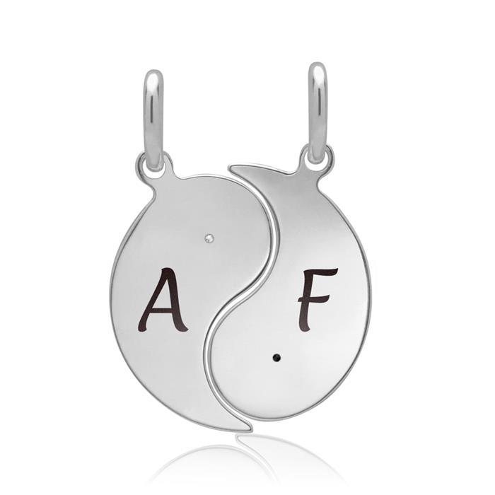 Ketten mit Anhänger in Yin-Yang-Symbolik Silber
