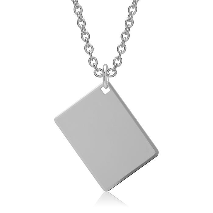 Kette mit poliertem Anhänger aus 925er Silber