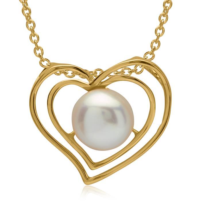 Silberkette mit Perlen-Anhänger 925er Silber