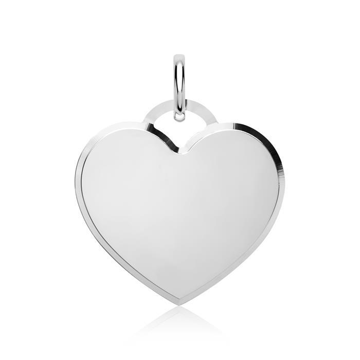 Edler silberner Herzförmiger Anhänger 925er Silber
