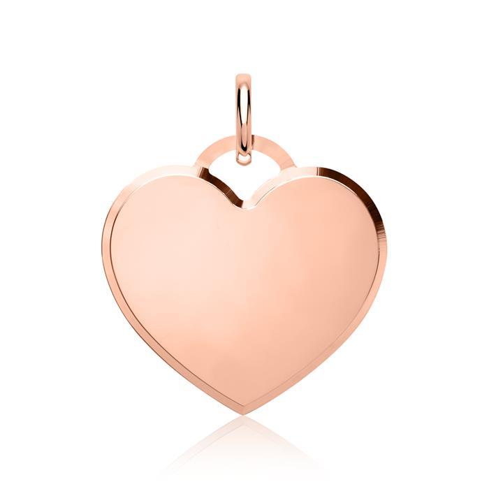 925 Silber Anhänger Herzform in roségold