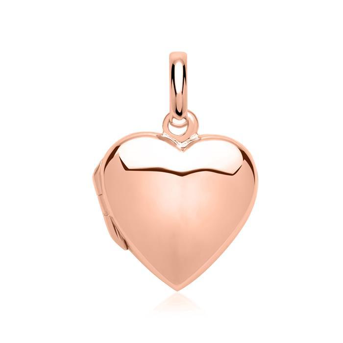 Herz-Medaillon gravierbar rosé vergoldet