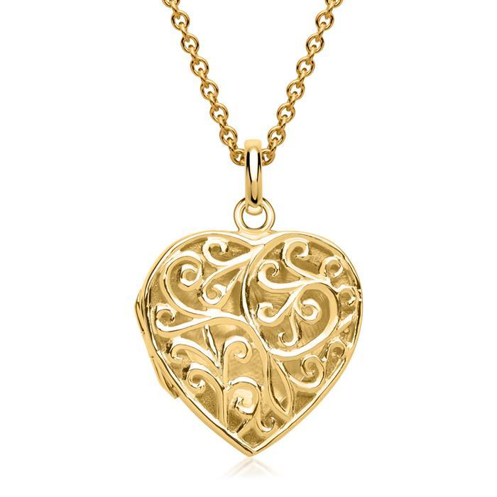Kette elegantes Herz Verzierungen vergoldet