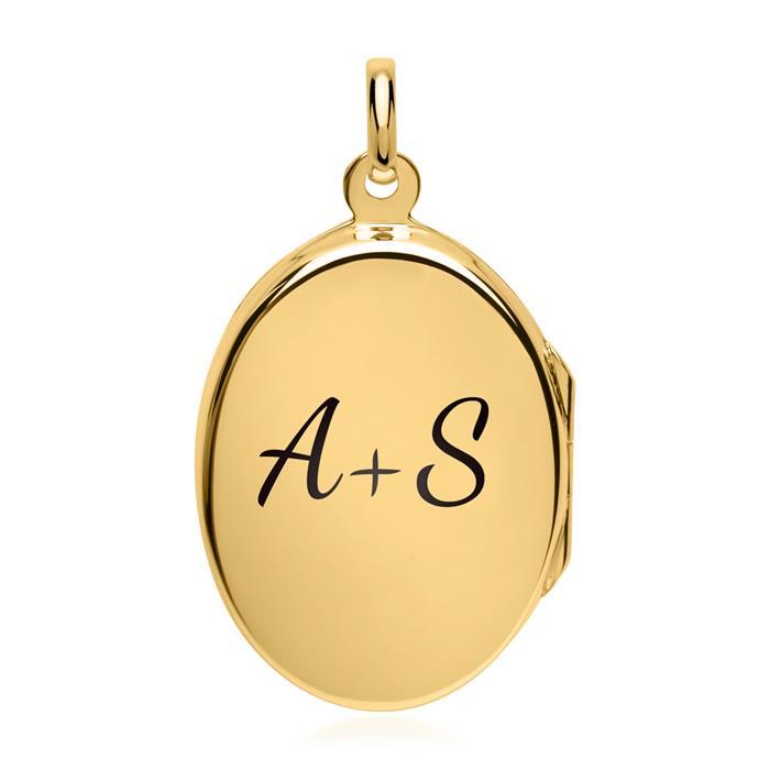Vergoldetes Medaillon mit Zirkoniastein