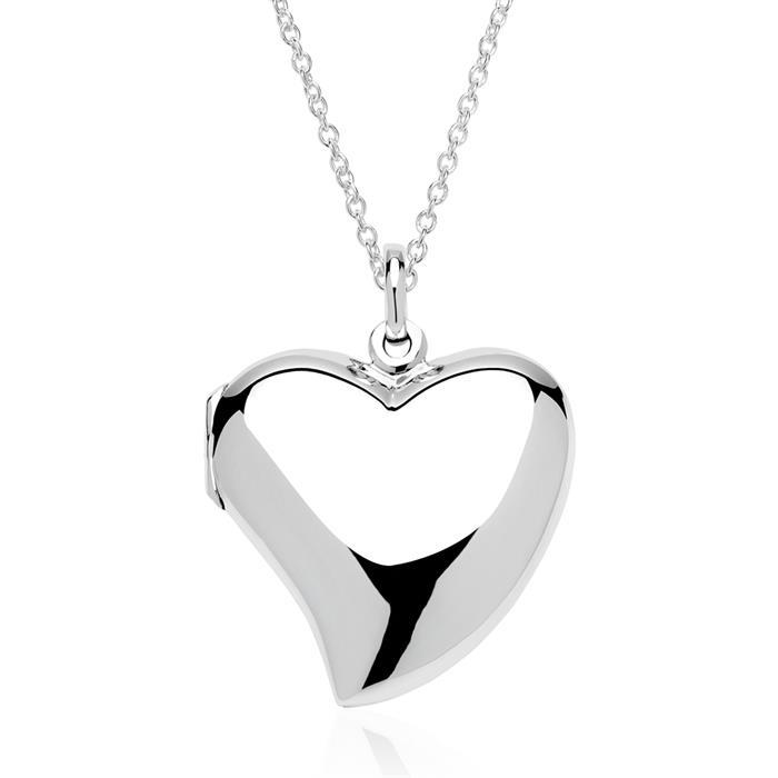 Medaillon im Herz-Design Sterlingsilber gravierbar