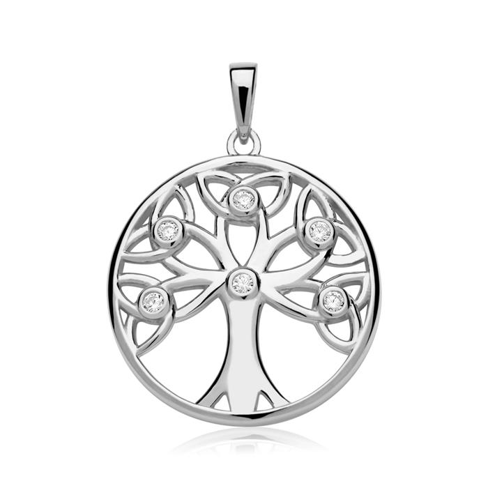 Anhänger Baum des Lebens Sterlingsilber Zirkonia
