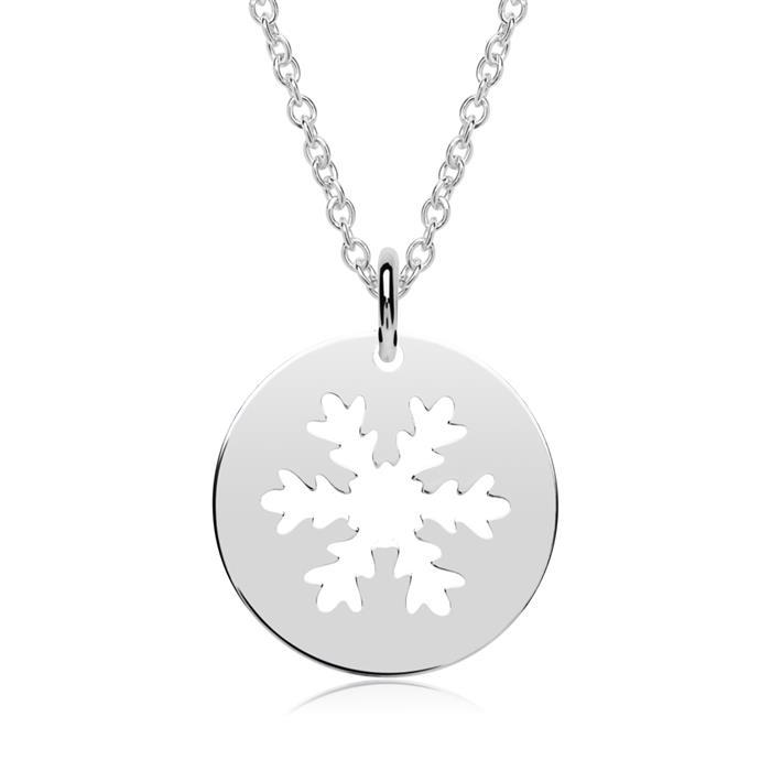 925er Silber Kette und Anhänger Schneeflocke