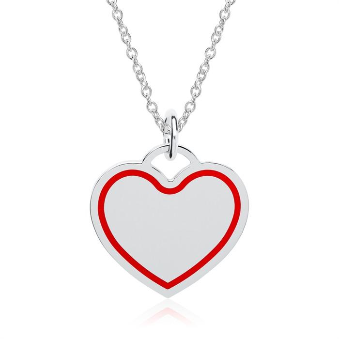 Gravierbare Kette Herz aus Sterlingsilber