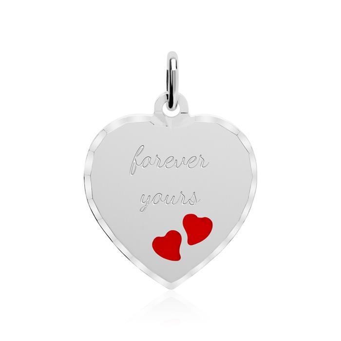Gravur Kettenanhänger Herzen aus 925er Silber