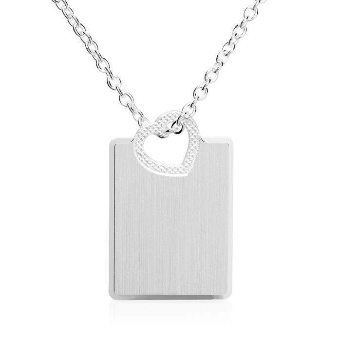925er Silberanhänger mit Herz gravierbar
