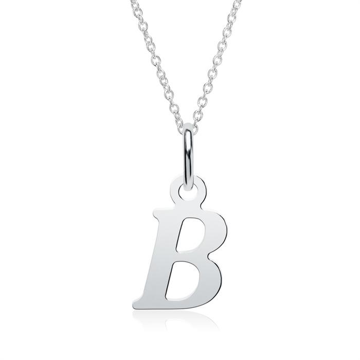 Buchstabenanhänger B aus 925er Silber