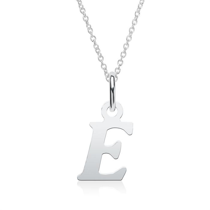 Kette mit Buchstabenanhänger E aus 925er Silber