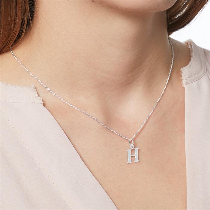 Buchstabenkette H aus 925er Silber