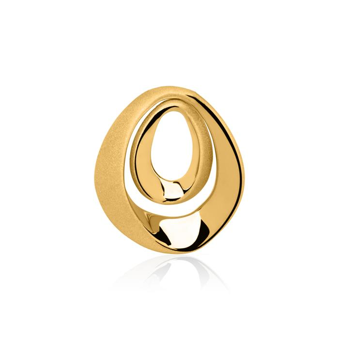 Mattierter vergoldeter Silberanhänger 2 Elemente