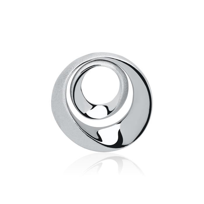 Ovaler 925er Silber Anhänger mattiert