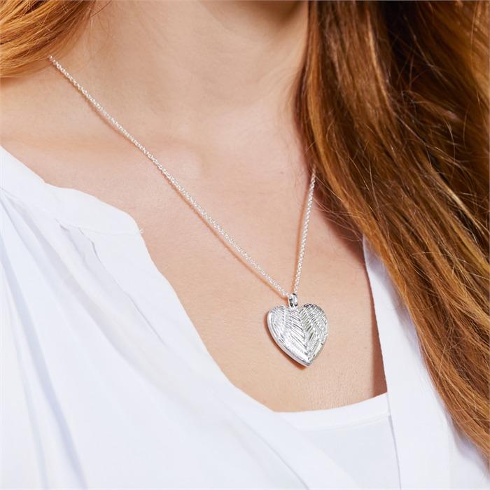 Medaillon Kette Engelsflügel 925er Silber gravierbar