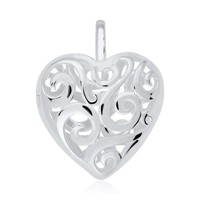 Medaillon Kette Herz aus Sterlingsilber