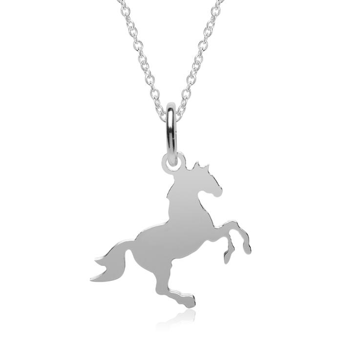 Kette Pferd aus 925er Silber