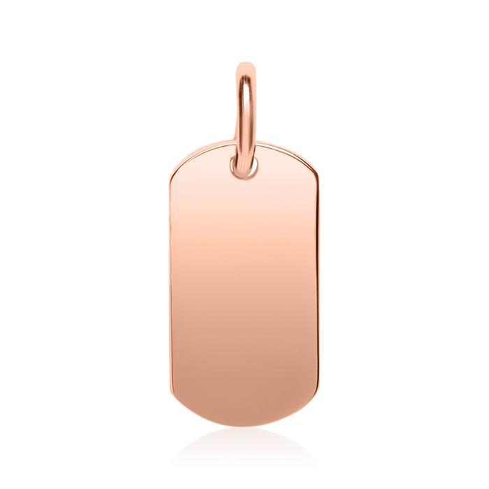 Gravur Kette aus 925er Sterlingsilber rosévergoldet