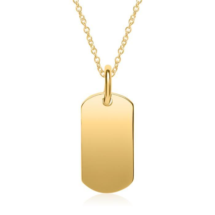 Anhänger aus vergoldetem Sterlingsilber gravierbar