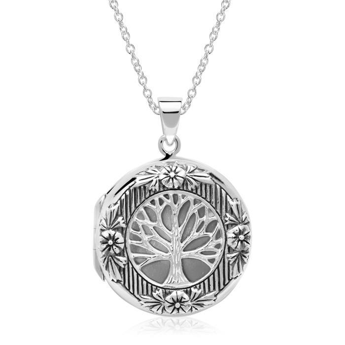 925er Silber Medaillon Lebensbaum gravierbar