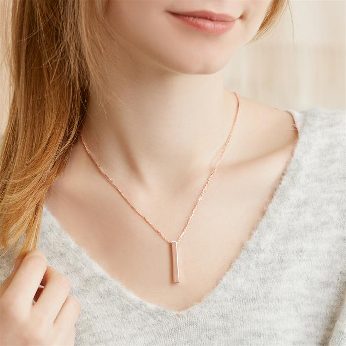 Pendant made of rose gold-plated 925 silver engravable