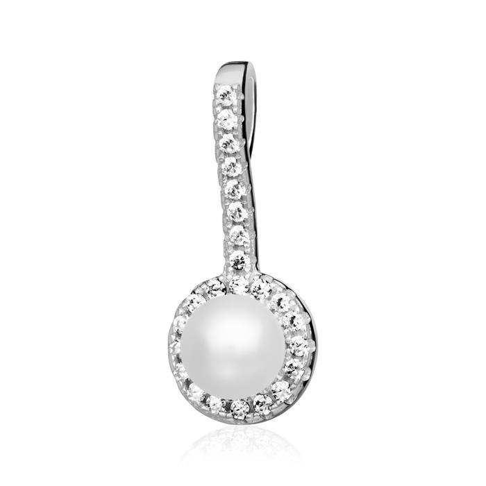 Kette für Damen aus 925er Silber mit Muschelperle
