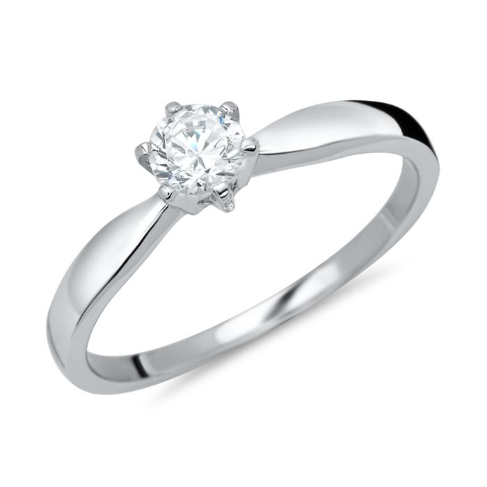 Unique Silber Ring Zirkonia SR0121